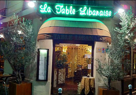 La table Libanaise paris